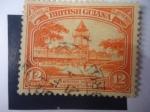 Sellos de America - Guyana -  Mercado de Stabroek-Georgetown-Guyana-Serie:King George V.