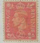 Stamps United Kingdom -  2. 1/2d Rojo