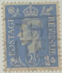 Stamps : Europe : United_Kingdom :  2. 1/2d azul
