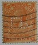 Stamps United Kingdom -  Two Pence