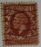 Stamps : Europe : United_Kingdom :  Three Half pence