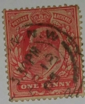 Stamps : Europe : United_Kingdom :  one penny