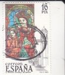 Sellos del Mundo : Europa : España :  vidriera La Epifanía catedral de Girona(38)