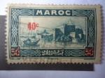 Stamps : Africa : Morocco :  Vista de Rabat-Capital del reino de Marruecos.