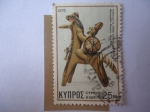 Sellos del Mundo : Asia : Chipre : Jinete de Terracotta-7 Centenario, A.C -Estatua.