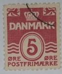 Stamps : Europe : Denmark :  Danmark 5 ore