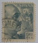 Stamps Spain -  Franco 50 ctvs