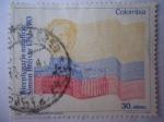 sellos de America - Colombia -  Bicentenario Natalicio Simón Bolívar, 1783-1983- Bandera de la República.