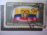 Sellos del Mundo : America : Colombia : 150 aniversario de la Independencia Nacional, 1810-1960 . Bandera Nacional-Libertad y Orden.