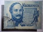 Sellos del Mundo : Europa : Hungría : Mihaly Vorosmarty (1800-1855) Poeta.