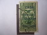 Stamps America - Ecuador -  Timbre Fiscal - Estampilla Habilitada. Casa de Correo y Telégrafos de Ecuador,