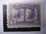 Stamps Asia - China -  Mapas de Shanghai y Nanjing - China-República Popular-Emisiones Regionales