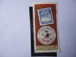 Stamps America - Venezuela -  Exfilca 70-Segunda Exposición Filatélica Interamericana- Sello de Correo dentro de otro Sello