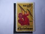 Stamps America - United States -  Navidad 1974- Ángel-Altarpiece- Museo Metropolitano.