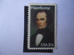 Stamps of the world : United States :  Nathaniel Hawthorne (1804-1864)Escritor y Poeta.
