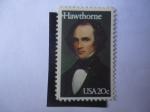 Stamps America - United States -  Nathaniel Hawthorne (1804-1864)Escritor y Poeta.