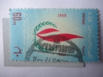 Stamps Africa - Egypt -  URA.Egipto-Año Internacional de los Derechos Humanos- Llama.-Emblema.