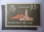 Stamps America - Netherlands Antilles -  Monumento a San Eustacio.