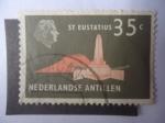 de America - Antillas Neerlandesas -  Monumento a San Eustacio.