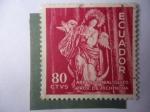 Stamps America - Ecuador -  Arte Colonial-Virgen de Quito- Artista:Bernardo de Lagarda (1734)
