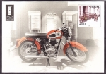 de Europa - Moldavia -  tarjeta postal- correo en moto