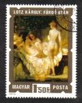 de Europa - Hungría -  Pinturas de desnudos: después del baño de Károly Lotz