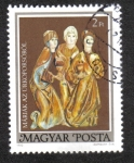 de Europa - Hungría -  Ataúd de Pascua de Garam Szent Benedek: Tres Marías
