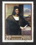 de Europa - Hungría -  Pinturas de maestros italianos: Retrato de un joven, de Sebastiano del Piombo