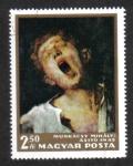 Sellos de Europa - Hungría -  Pinturas: Muchacho bostezando por Mihály Munkácsi