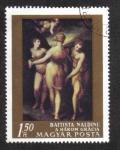 Sellos del Mundo : Europa : Hungría : Pinturas de maestros italianos: Las tres gracias, de Battista Naldini