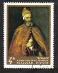 Sellos del Mundo : Europa : Hungría : Pinturas de maestros italianos: El dux marcantonio trevisani, de tiziano