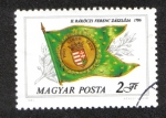 Stamps Europe - Hungary -  Banderas históricas: Bandera de Ferenc Rákóczi II, 1716
