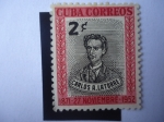 Stamps America - Cuba -  Carlos A. Latorre - Serie:Disparos de Ocho Inocentes Condenados a Muerte.