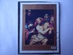 Stamps Hungary -  Sueños de José-Hijo de Jacob - Oleo del Italiano:Giovanni Batista (1696-1770)