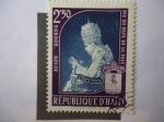 Stamps : America : Haiti :  Papa Pío XII - Eugenio María Giuseppe Giovanni Pacelli (1876-1958)