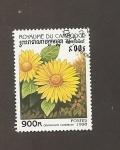 Sellos de Asia - Camboya -  Flor Dorinicum