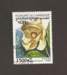 Stamps Cambodia -  Flor Magnolla