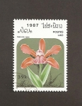 Sellos de Asia - Laos -  Flor Sobralia