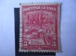 Stamps Guyana -  Minería de Oro Aluvial.