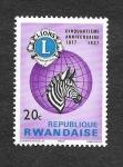 Sellos de Africa - Rwanda -  233 - 50º Aniversario del Club de los Leones