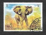 Stamps Asia - United Arab Emirates -  Elefante