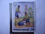 Stamps Africa - Togo -  Movimiento Scout - Tienda de Campaña - Año de Exploración - África Occidental.