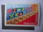 Stamps America - Trinidad y Tobago -  Carifta - Primer Aniversario de Zona Franca caribeña.