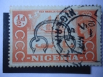 Stamps Africa - Nigeria -  Old Manilla Currency - Queen Elizabeth II