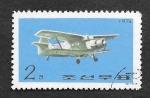 sellos de Asia - Corea del norte -  Avión