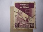 sellos de America - Ecuador -  Exposición del Progreso del Ecuador - Vías Férreas - Progreso Nacional