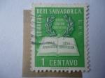 sellos de America - El Salvador -  Dios Unión Libertad - Costitución y Corona de Laurel - Revolución Constitución 1948-1950.