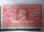 Sellos de America - Nicaragua -  Cristóbal Colón - Día de la Raza 1492-1937