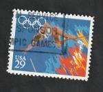 Sellos de America - Estados Unidos -  1957 - Olimpiadas Barcelona 92, salto con pértiga
