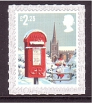 Sellos de Europa - Reino Unido -  Navidad- Uso del buzón